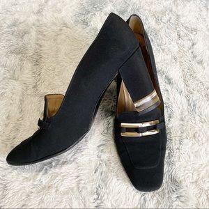 Stuart Weitzman classic black block heel Mary Jane